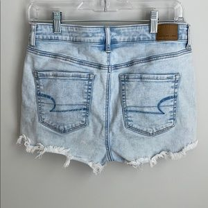 American Eagle super high rise shortie shorts
